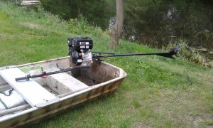 boat with Stump-Jumper mud motor