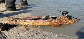 boat with Stump-Jumper mud motor